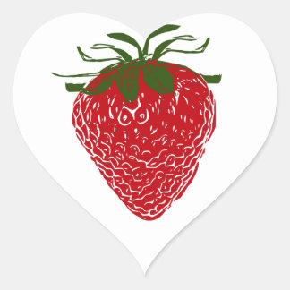 Strawberry: Heart Sticker