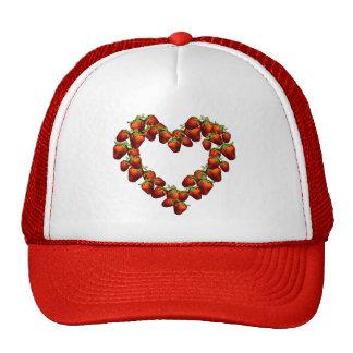 Strawberry Heart Trucker Hat