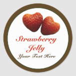 Strawberry Hearts Jelly Sticker
