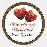 Strawberry Hearts Preserves Sticker