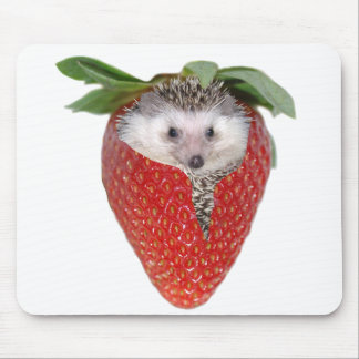 Strawberry Hedgie Mouse Pad