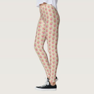 Strawberry Hex Art by EelKat Leggings