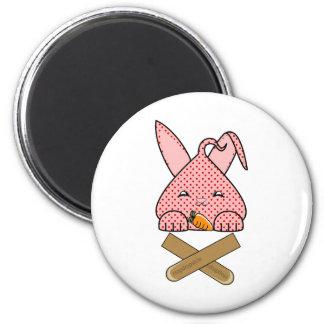 Strawberry Hopdrop Crossticks 2 Inch Round Magnet
