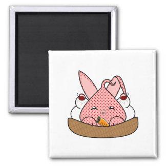 Strawberry Hopdrop Waffle Sundae 2 Inch Square Magnet