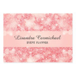 Strawberry Ice Bokeh Event Planner Business Cards