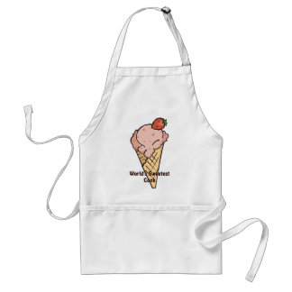 Strawberry ice cream apron