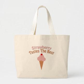 Strawberry Ice Cream Jumbo Tote Bag