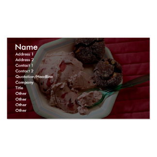 Strawberry ice cream business cards