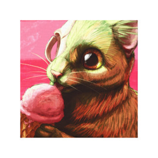 Strawberry Ice Cream Canvas Print