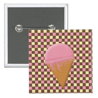 Strawberry Ice Cream Cone Buttons
