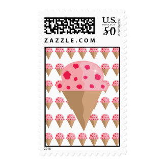 Strawberry Ice Cream Cone Postage
