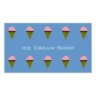 Strawberry Ice Cream Cones Business Card