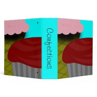 Strawberry Ice Cream-Cupcake Recipe binder