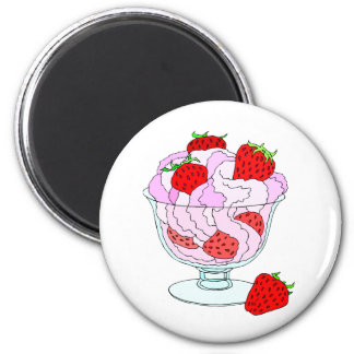 Strawberry Ice Cream Magnet