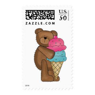 Strawberry Ice Cream Teddy Postage
