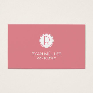 Strawberry Ice Professional Chic and Monogram Business Card
