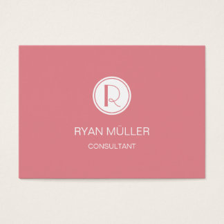Strawberry Ice Professional Plain and Monogram Business Card