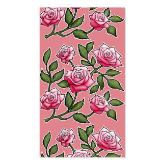 Strawberry Ice Rose Floral Business Card