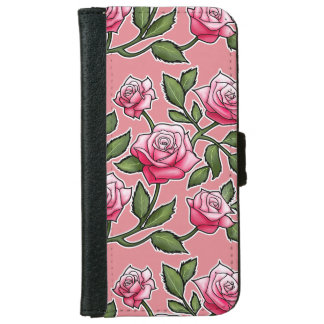 Strawberry Ice Rose Floral iPhone 6/6s Wallet Case