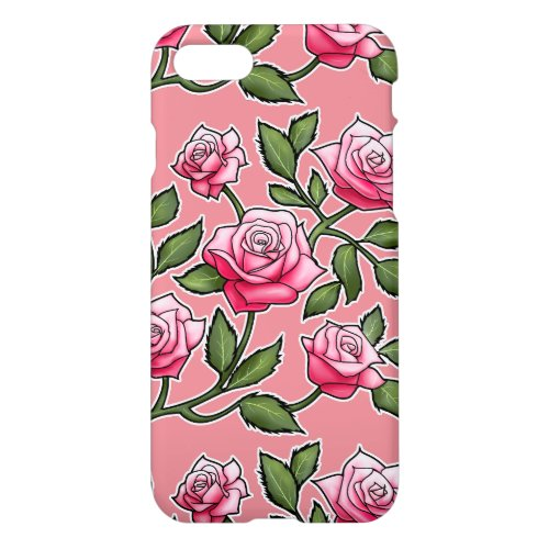 Strawberry Ice Rose Floral Phone Case