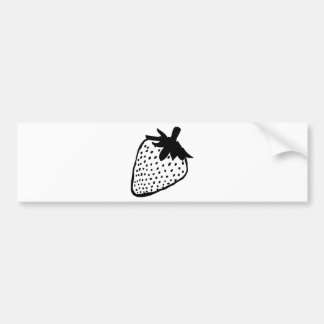 strawberry icon bumper sticker