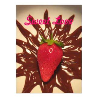 Strawberry In Chotolate - Greeting Card