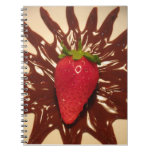 Strawberry In Chotolate - Notebook