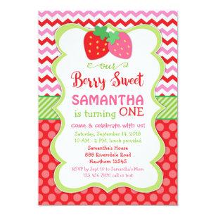 Strawberry Invitations Zazzle