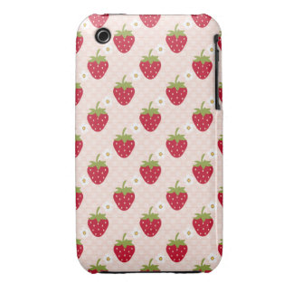 Strawberry iPhone 3 Case Mate Cover Pink