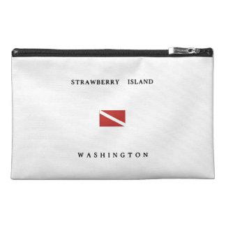 Strawberry Island Washington Scuba Dive Flag Travel Accessories Bag