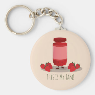 Strawberry Jam cartoon character | Keychain