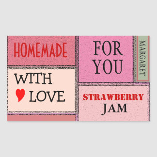 Strawberry Jam-Customize It! Rectangle Stickers