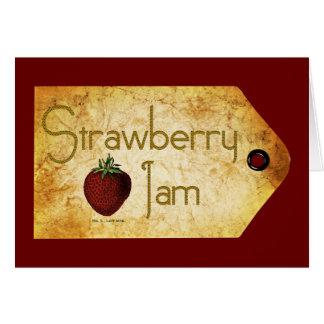 Strawberry Jam Label Card