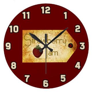 Strawberry Jam Label Clock