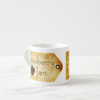 Strawberry Jam Label Espresso Cup