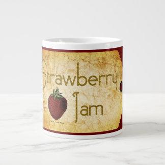 Strawberry Jam Label Giant Coffee Mug