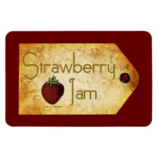 Strawberry Jam Label Magnet