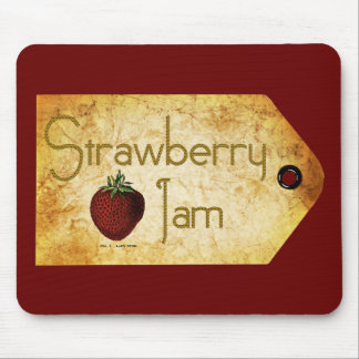 Strawberry Jam Label Mouse Pad
