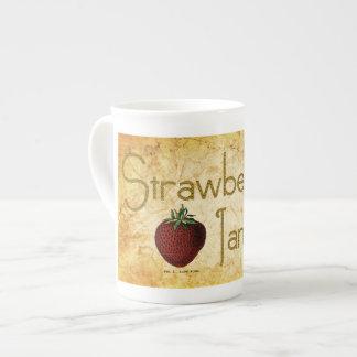 Strawberry Jam Label Tea Cup