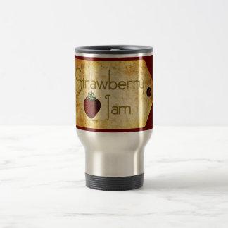 Strawberry Jam Label Travel Mug