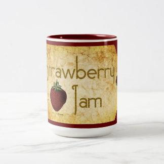 Strawberry Jam Label Two-Tone Coffee Mug