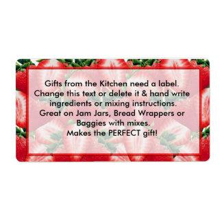 STRAWBERRY Jam Labels Kitchen Gift labels
