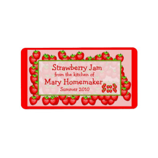 Strawberry Jam or Strawberry Preserves Labels
