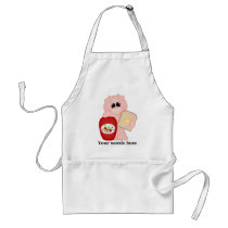 Strawberry Jam pig kitchen apron