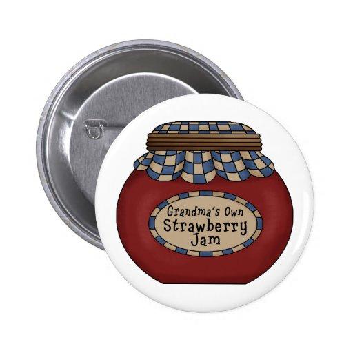 Strawberry Jam Pinback Button