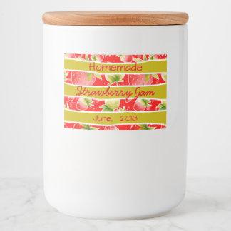 Strawberry Jam Preserves Canning Label