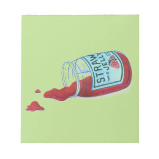 Strawberry Jelly Note Pad