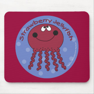 Strawberry Jellyfish Mouse Pad