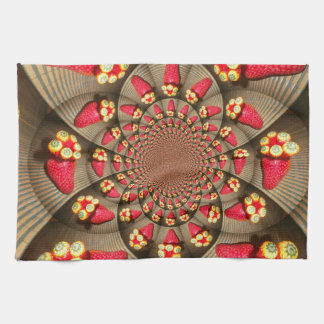 STRAWBERRY Kitchen Towel VINTAGE RED AND YELLOW