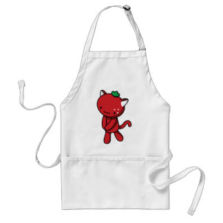 Strawberry Kitty Adult Apron